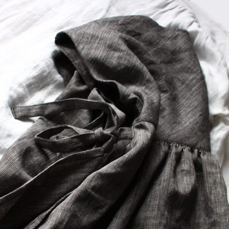 イタリアンリネン ワンピース italian linen dress