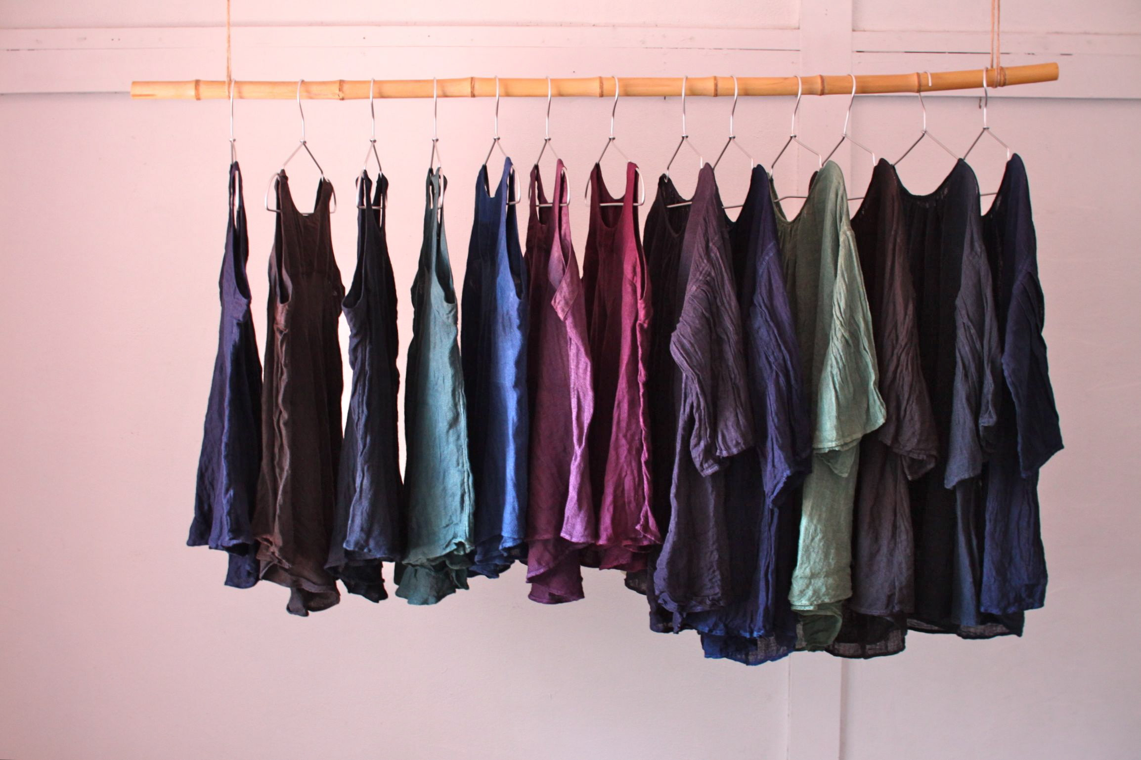 草木染め リネン服 natural dye linen clothes