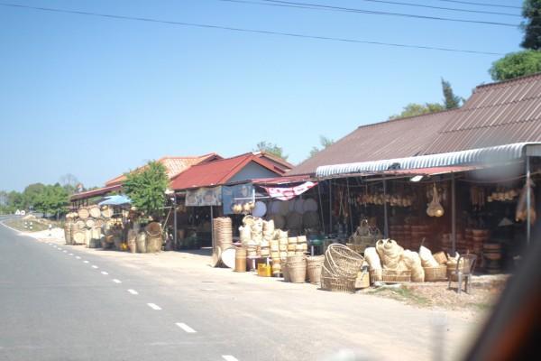 ラオス 籠屋さん Champasak, Laos